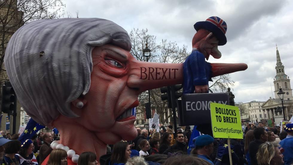 »Demonstration gegen Brexit London«